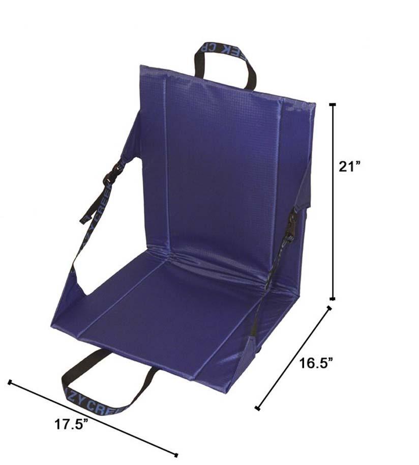 Crazy Creek Long Back Folding Outdoor Chair Royal Blue