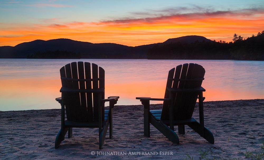 Adirondack Fall Wallpaper Adirondack Chairs On Blue Mountain Lake