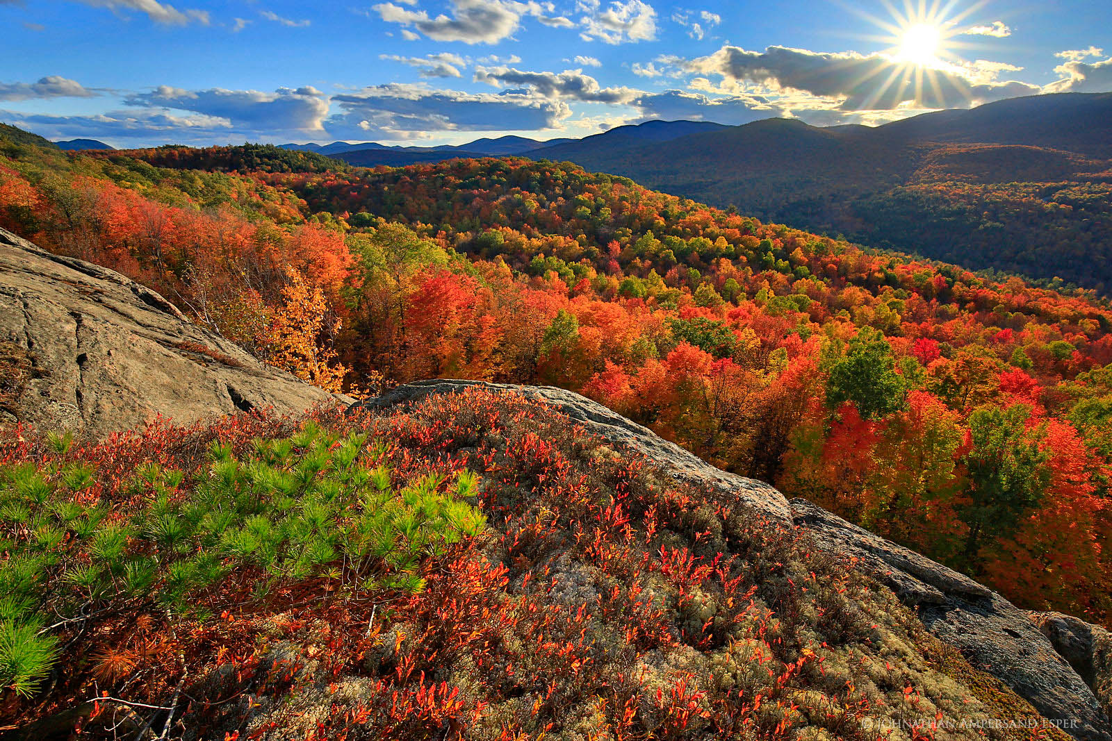 Central Park In Fall Wallpaper Peaceful Valley Cliffs Illuminated Fall Foliage Near Gore