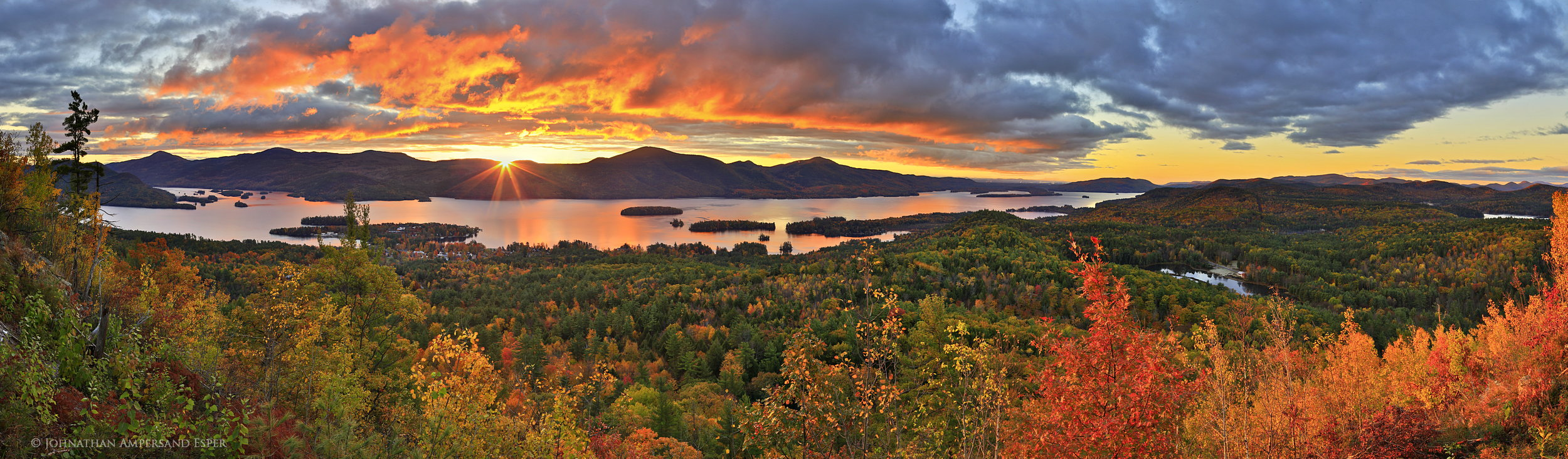 New York Fall Wallpaper The Pinnacle Bolton Landing Sunrise Over Lake George