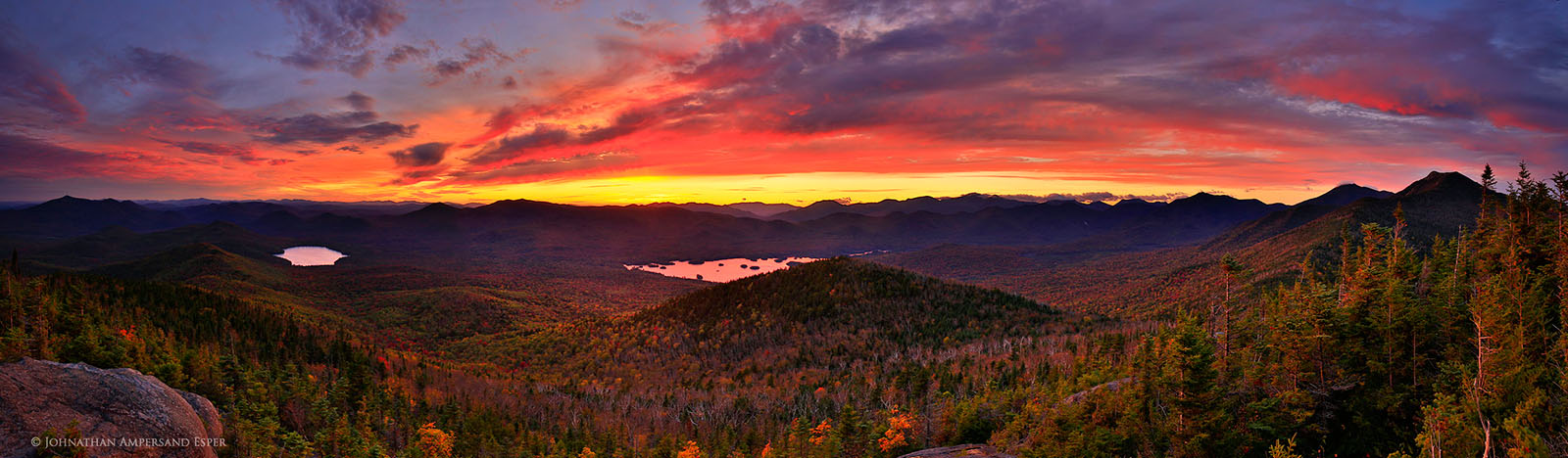 Fall Wallpaper With Owls Sunrise Mt Sunset Over Elk Lake And High Peaks