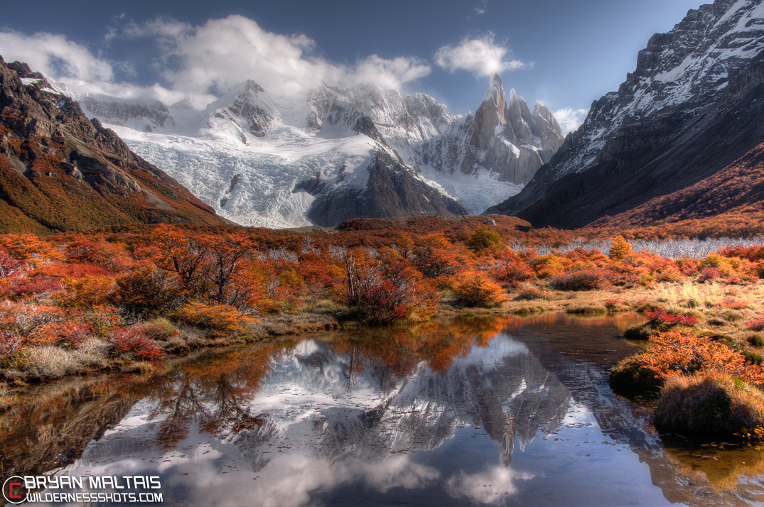 Fall Foliage Computer Wallpaper Patagonia Photography El Chalten