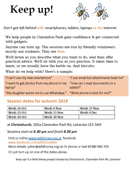Copy of leaflet for autumn keep up! sessions
