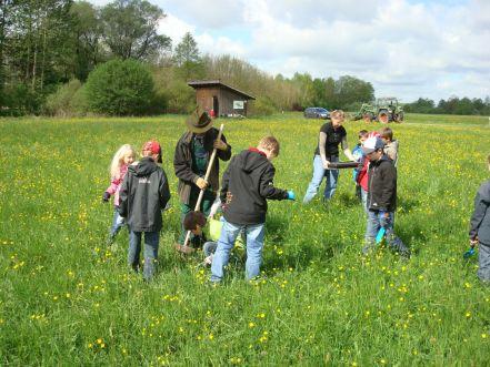 "Schul-Projekt: ""Pflanz-Aktion"" im Thalhamer Moos"