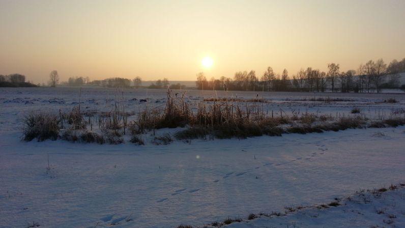 Seige im Sonnenaufgang vor Beginn der Maßnahmen