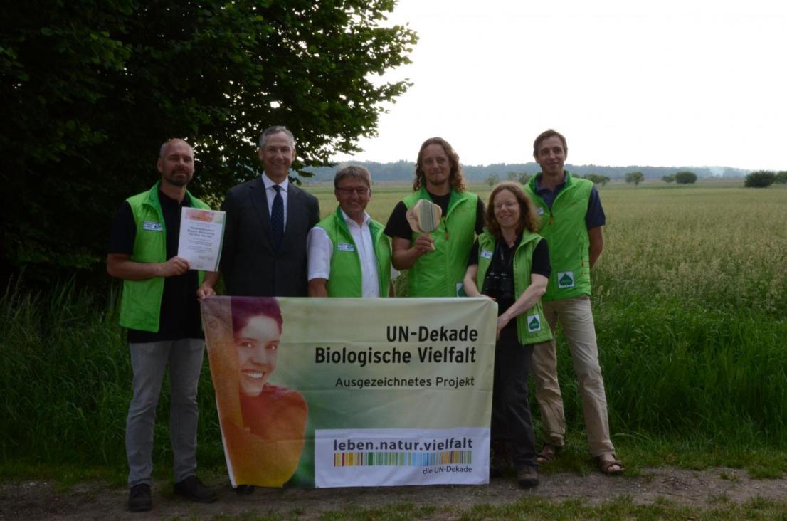 UN-Dekade-Preisverleihung mit fränkischen Gebietsbetreuer©StMUV