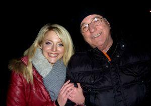Schlagerstar Gina und Ton-Assistent Peter Kahler