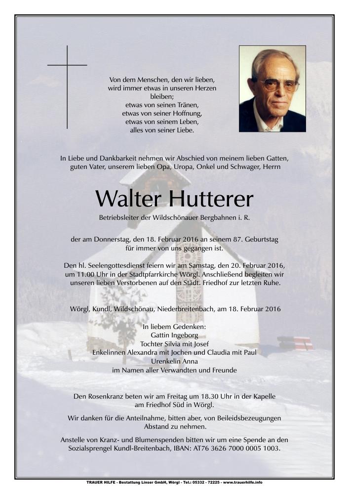 Walter Hutterer