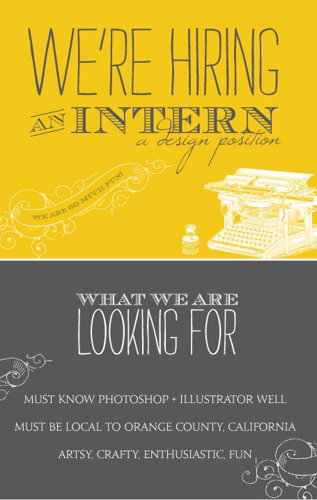 We\u0027re Hiring an Intern! - Wiley Valentine - looking for an internship