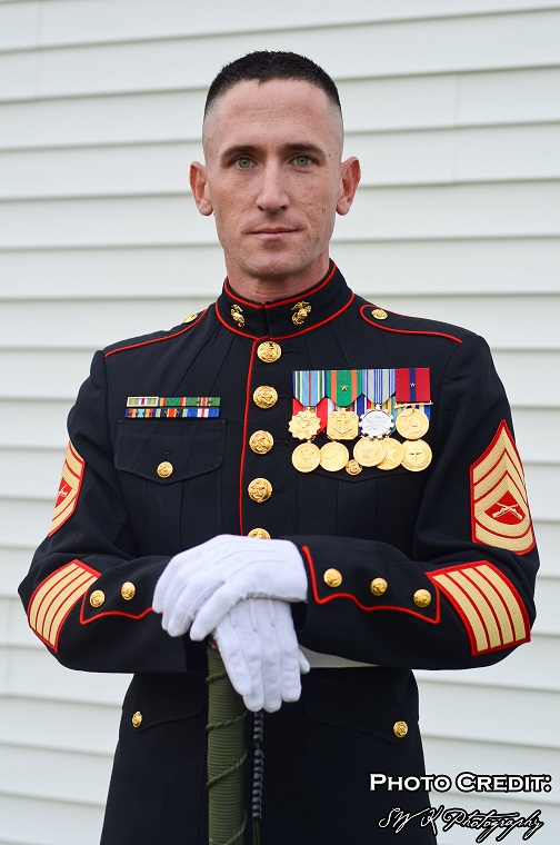 A memorial to service: Kevin J. Carleo, a US Marine for 20 years plans to run for President in 2016.