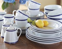 Brasserie Blue-Banded Porcelain Dinnerware Collection ...