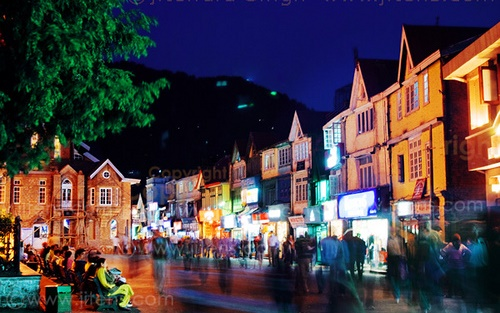 mall road- hotel in shimla