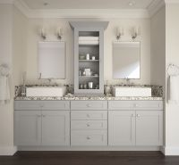 Grey Shaker Vanity Cabinets | Review Home Co