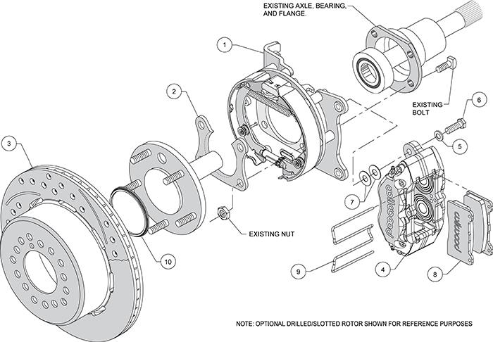 parking brake shoe schematic