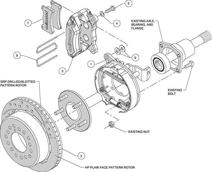 parking brake shoe schematic