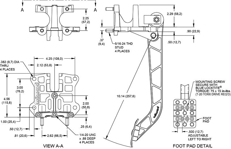Wilwood Disc Brakes - Pedal Hardware