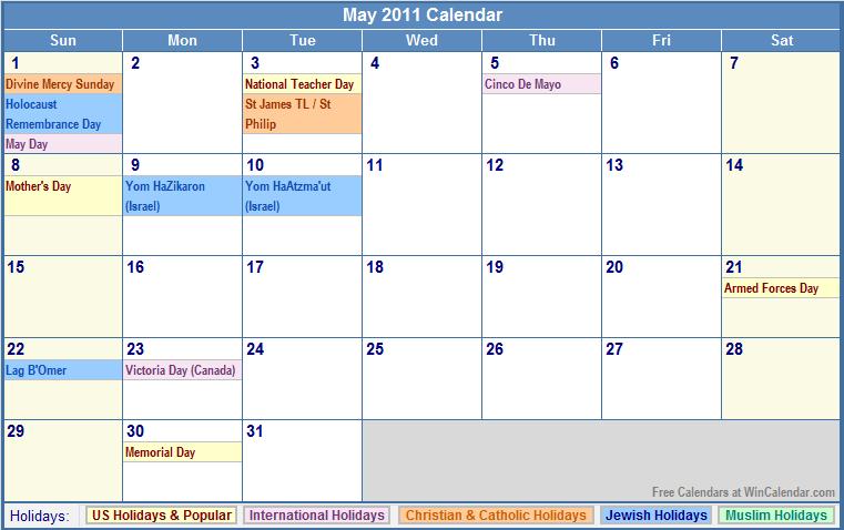 Calendar With Jewish Holidays 2014 January 2018 Jewish Calendar Calendar 2011 Holidays New Calendar Template Site