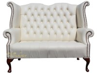 Chesterfield Newby 2 Seater Queen Anne High Back Wing ...