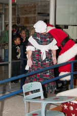 Santa Jim and Karen Claus greeted the children as they arrived at Windcrest Elementary.