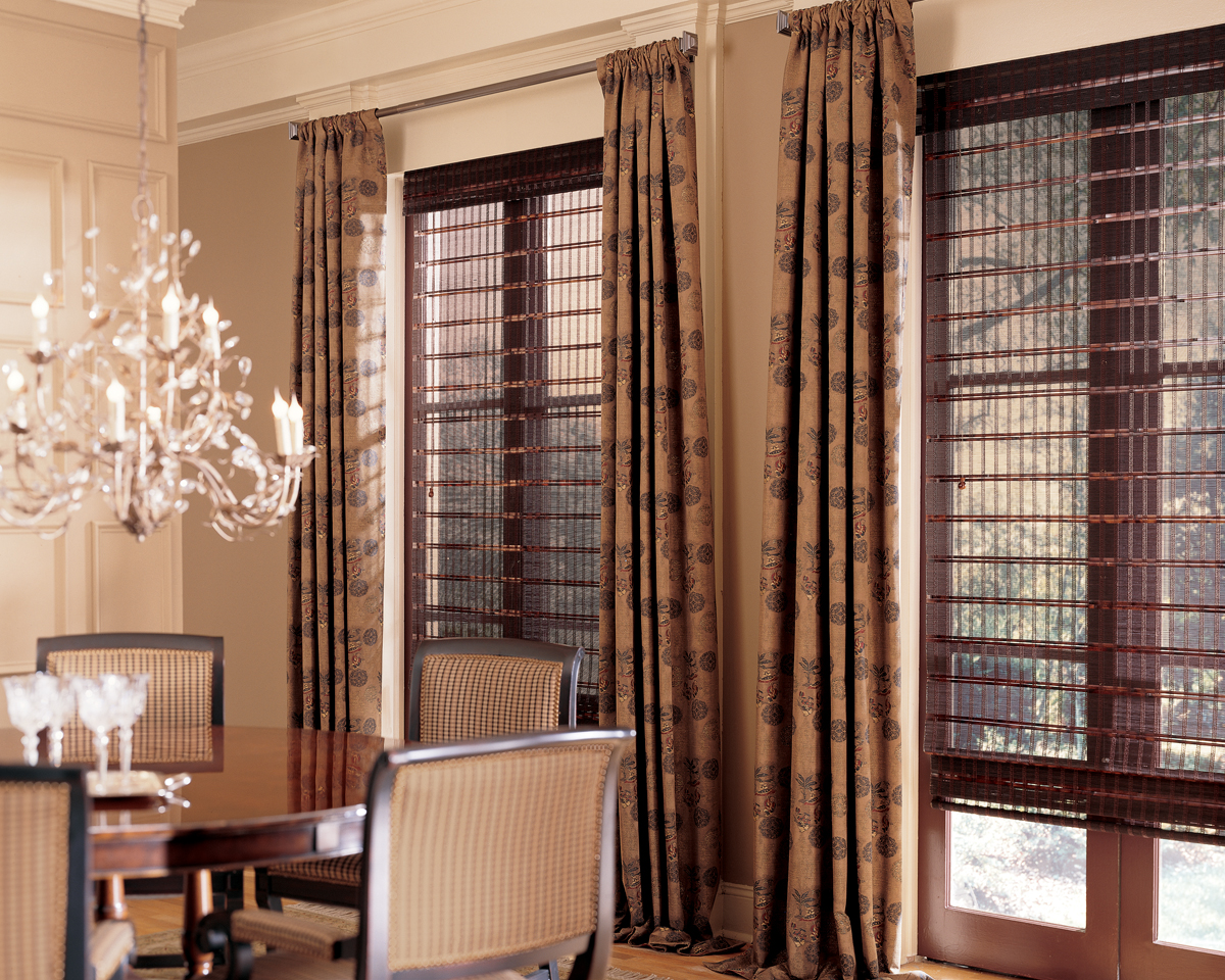 Pairing blinds and shades with drapery serving fairfield
