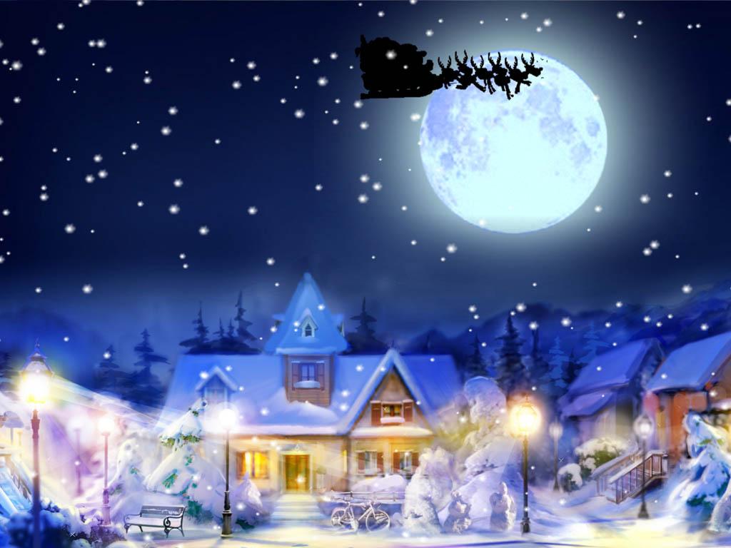 Live Winter Snow Fall Background Wallpaper Windows 10 New Year Screensaver Jingle Bells Screensaver