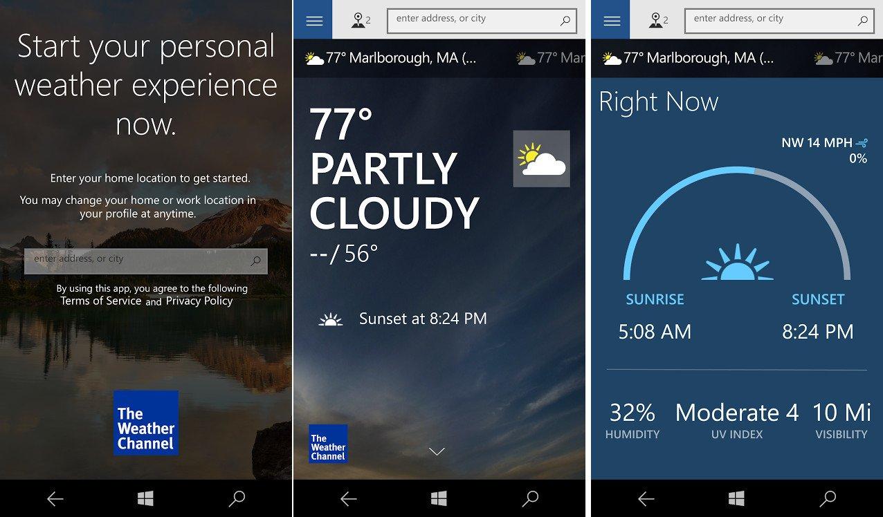 weather channel app windows download