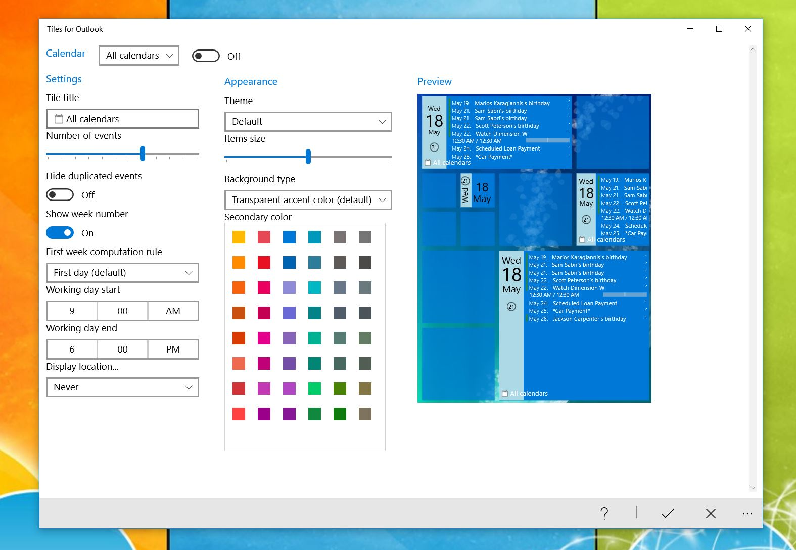 Time For A Refresh Meet The New Google Calendar For Web Tiles For Outlook Lets You Get Creative With Custom