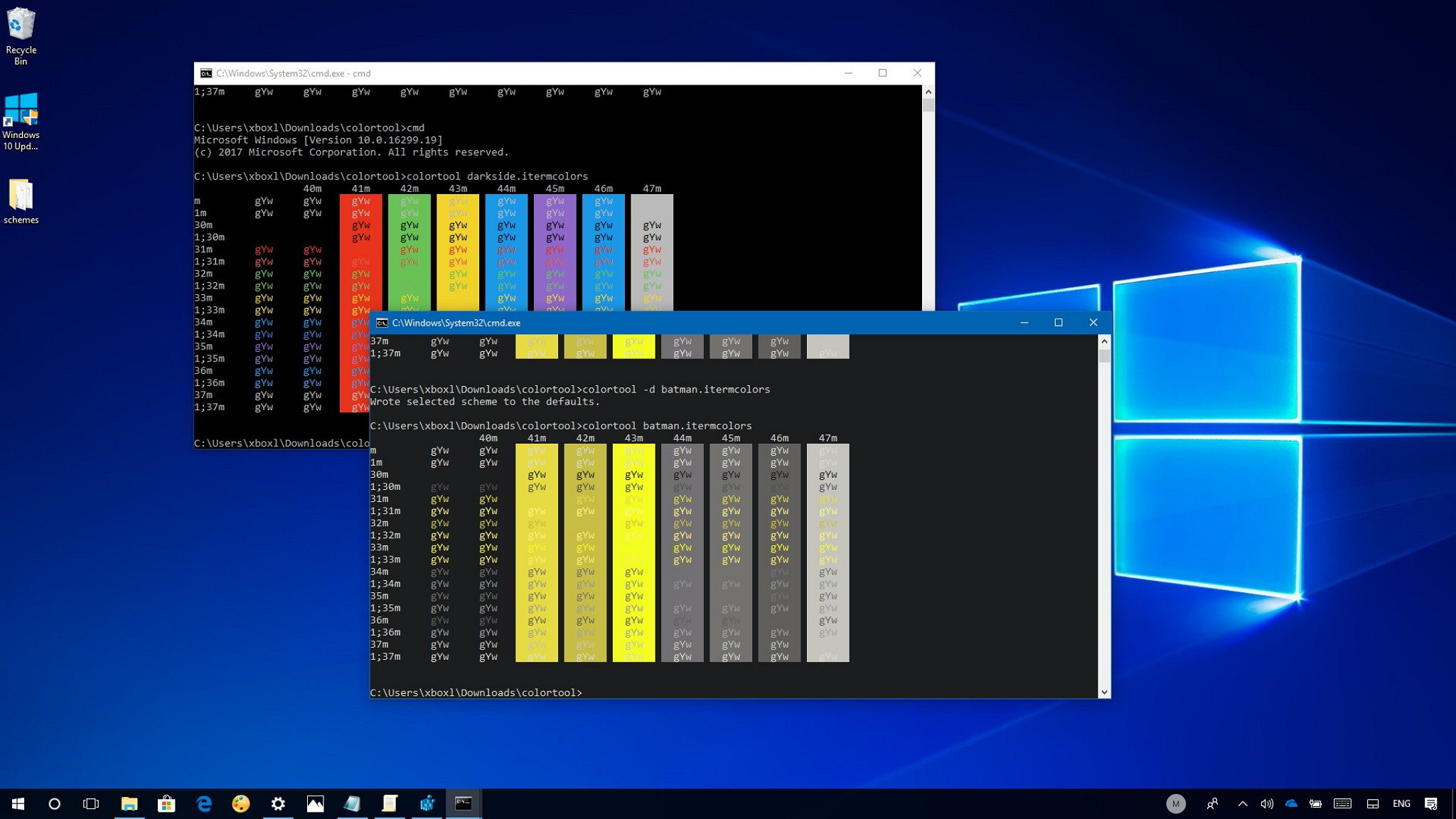 windows 10 color scheme