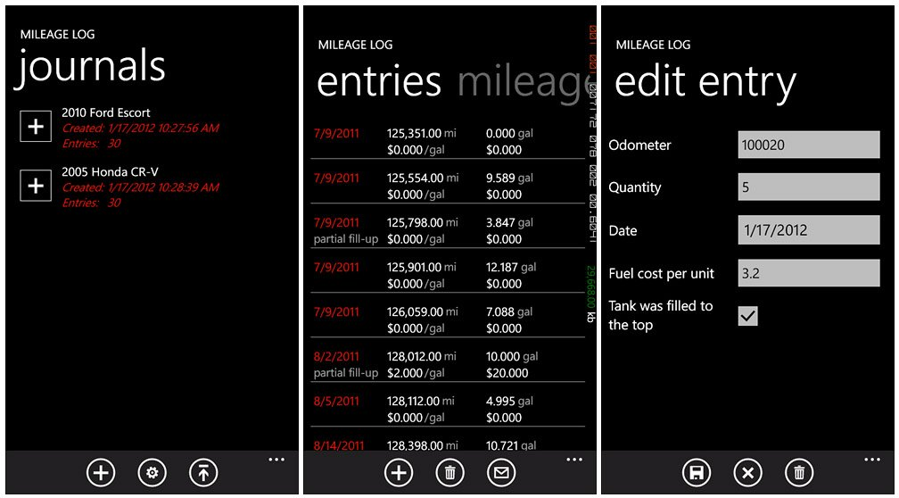 Use your Windows Phone to get more miles per gallon Windows Central - free mileage app