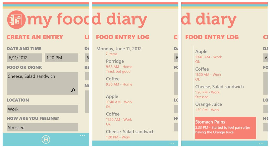 Windows Phone Fitness Roundup Counting the calories and eating