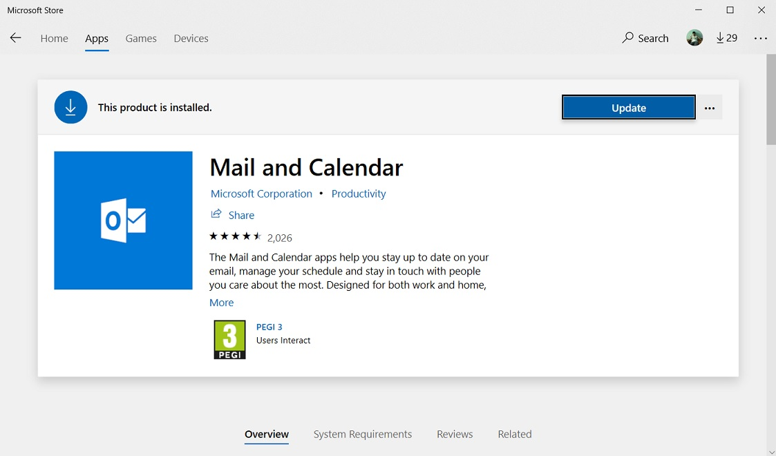 You can soon enable and disable reading pane in the Windows 10 Mail app