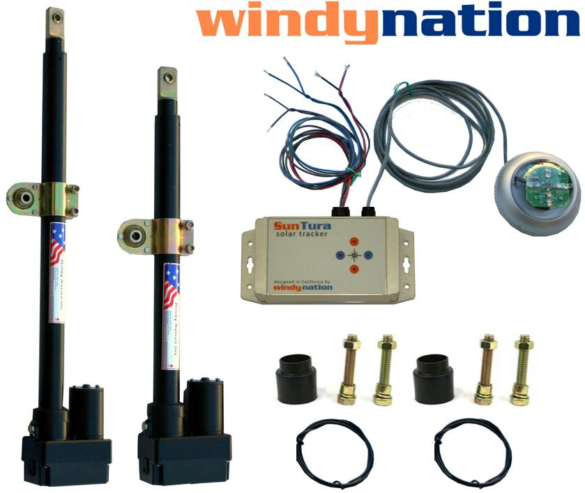 Solar Tracker Tracking HD Dual Axis Complete Kit