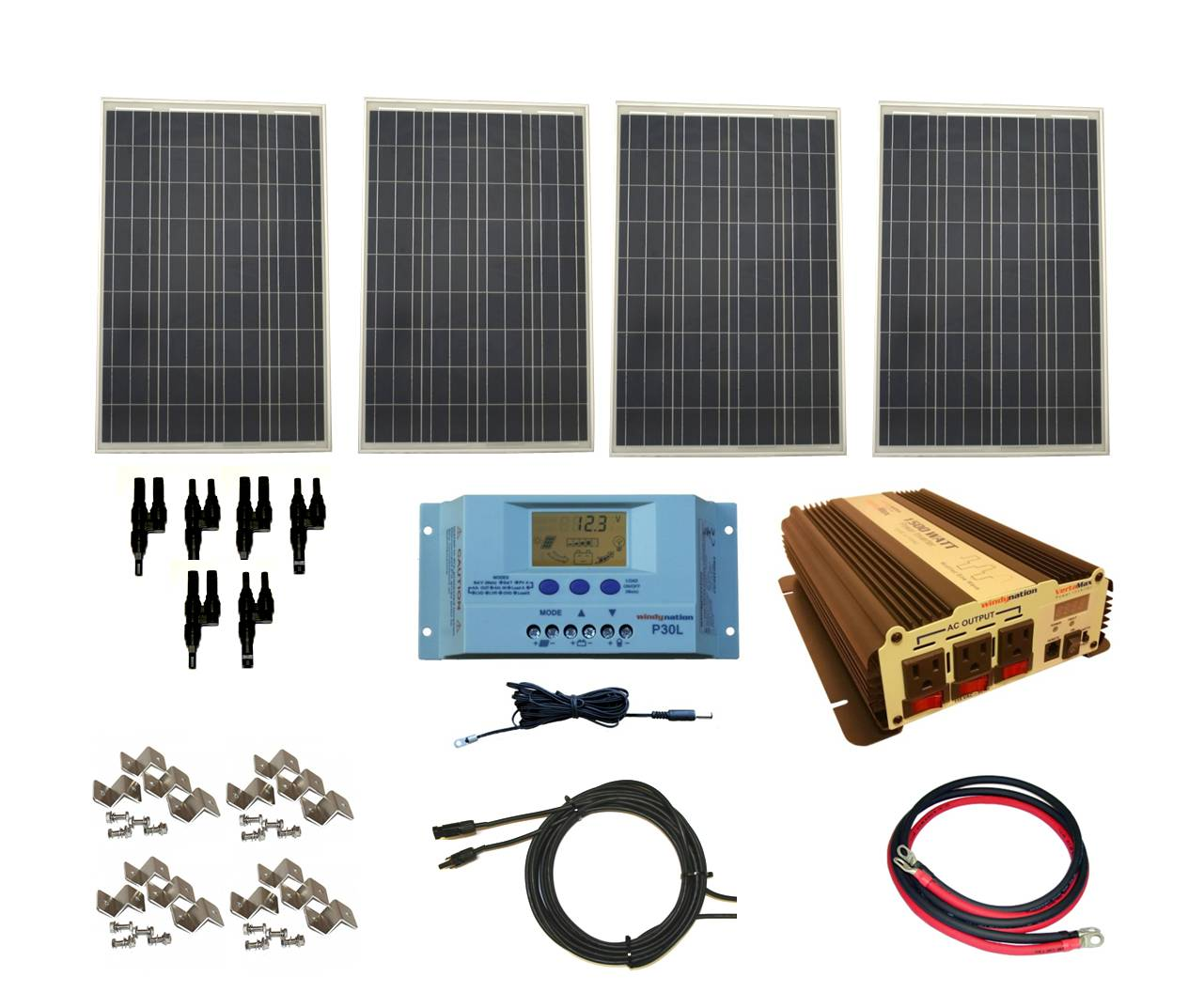 110 Volt Wiring Diagrams Complete 400 Watt Solar Panel Kit With Vertamax Power