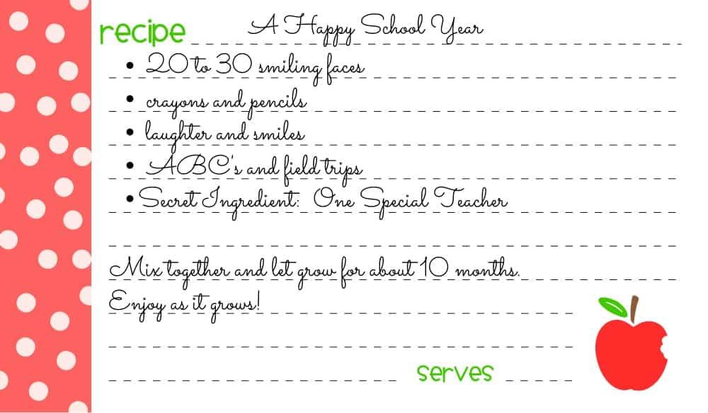 Recipe Cards {An Easy DIY Teachers Gift} - Wine  Glue
