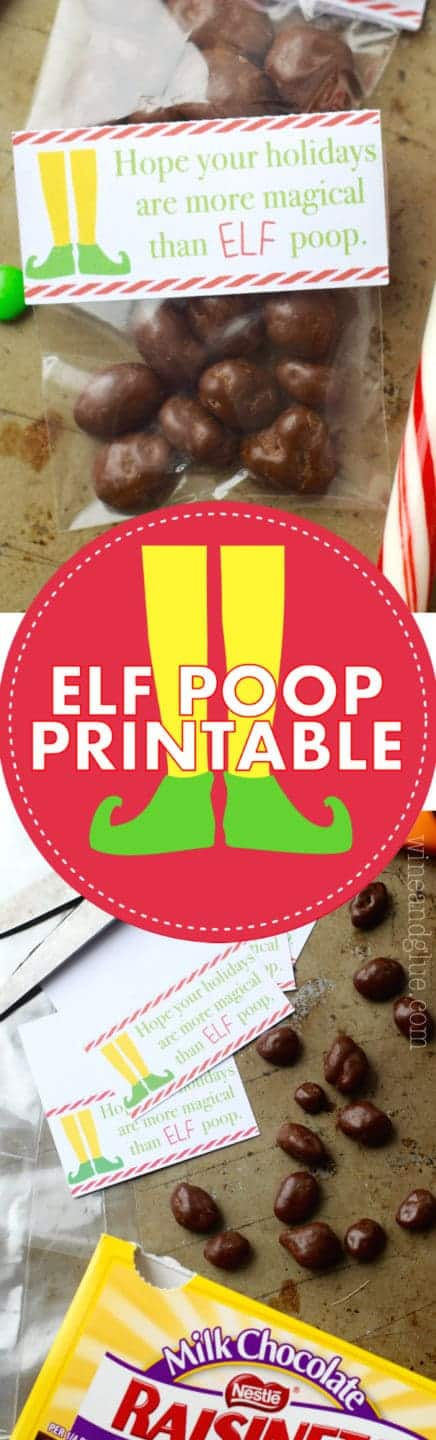 Elf Poop Printable {PDF and Silhouette Files} - Wine  Glue