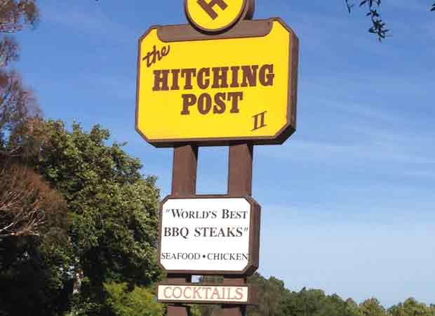 Hitching post in Buelton