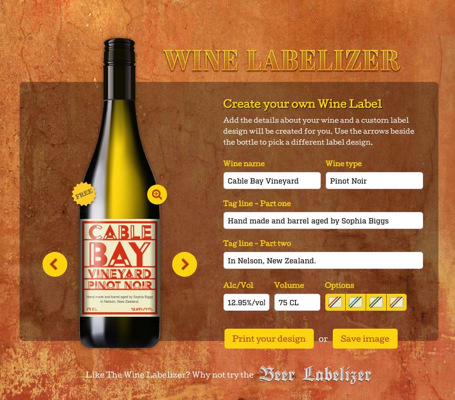 Wine Bottle Labels - Custom Designs Wine Labelizer
