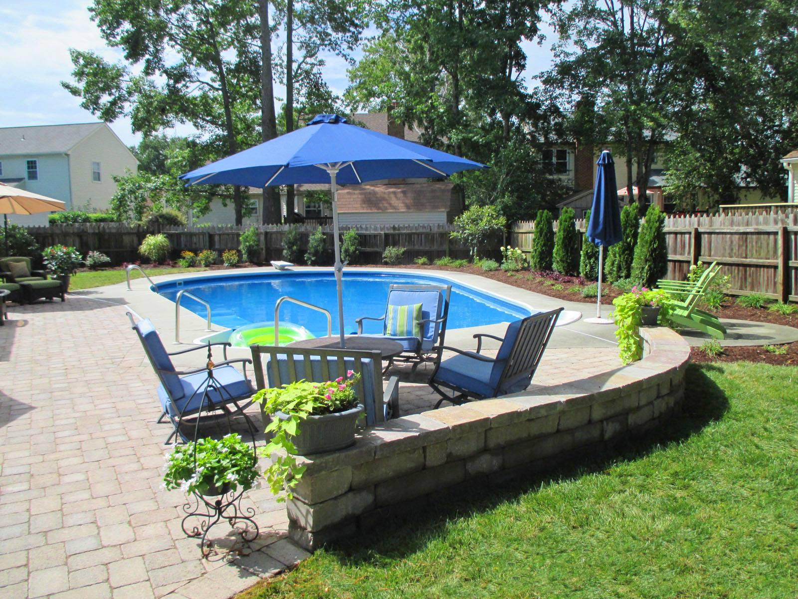 Backyard Pool Area Makover