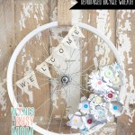 DIY Recycled Bicycle Wheel Wreath