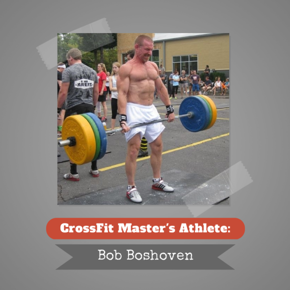 Crossfit Games Masters Athlete Bob Boshoven. At 52 with only a year of Crossfit behind him, Bob spends his days as an accounting teacher, wrestling coach, and mentor. Outside of work, he is active inside the box, growing more and more each day! Check out the full spotlight here, or visit www.winetoweightlifting.com for more Crossfit information.