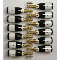 Acrylic and Stainless Steel 12 Bottle Wall Mounted Wine ...