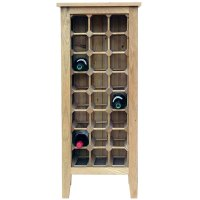 24 Bottle Contemporary Wooden Wine Cabinet / Rack with ...