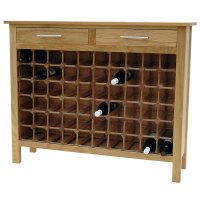 60 Bottle Contemporary Wooden Wine Cabinet / Rack with