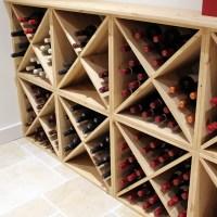 Pine Wooden Wine Rack - Cellar Cube - 144 Bottles - 298mm ...