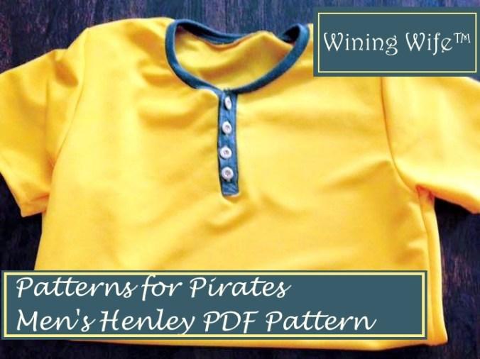 Patterns for Pirates Men's Henley PDF