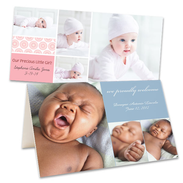 Custom Photo Birth Announcements Baby Photo Cards Winkflash