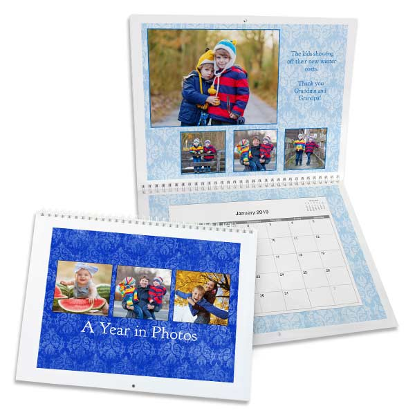85x11 Photo Calendar 2019 Wall Calendar Winkflash