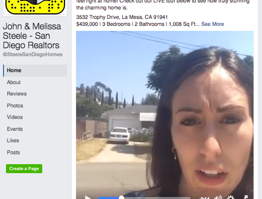 Facebook Live, Real estate agent