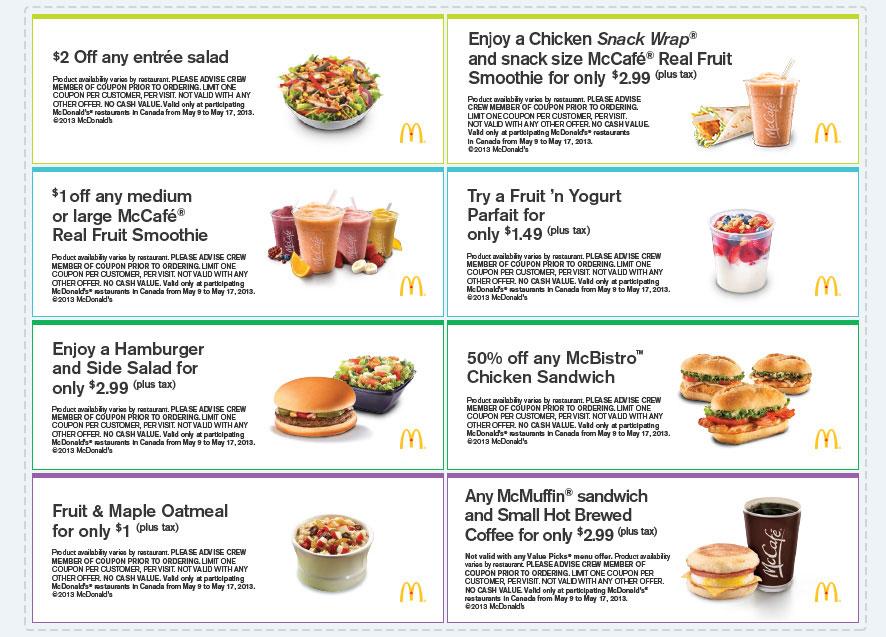 McDonald\u0027s Fresh Savings for Spring - Download Printable Coupons