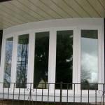 White vinyl bow windows in Brampton